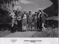 SERVICE PRESSE MINISTERE DEFENSE / PARTISANS AUTRICHIENS ET OFFICIERS FRANCAIS / - Guerre, Militaire