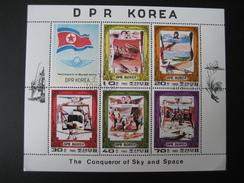 DPR Korea Sonderstempel 1980 Block Sky And Space - Korea, North