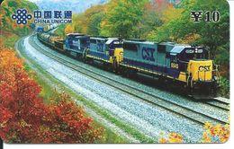 Train Trein Rail Locomotive  Télécarte Phonecard  (D.206) - Chine