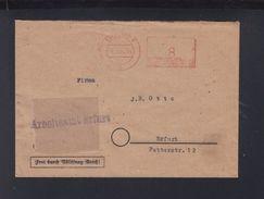 Brief Maschinenfreistempel Erfurt 1945 - Sowjetische Zone (SBZ)