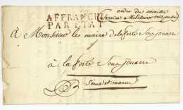 Mouvement Troupes 1813 Service Militaire Tres Presse La Ferte Sous Jouarre Walville Commissaire Ordonnateur - Marcophilie (Lettres)