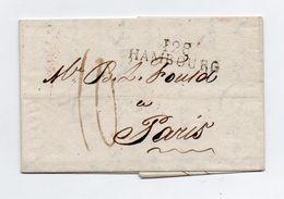 !!! PRIX FIXE : DEPT CONQUIS, 128 BOUCHES DE L'ELBE, MARQUE POSTALE DE HAMBOURG SUR LETTRE DE 1813 - Postmark Collection (Covers)