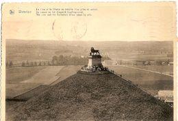 Belgium  & Circulated, Le Leon Et Le Champ De Bataille, Waterloo, Hotel De La Paix, Lisboa 1951 (5466) - Monumenten