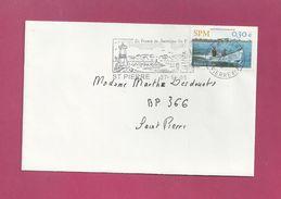 Lettre Locale De Saint Pierre Et Miquelon De 2005 - YT N° 815 - Pêcheur - Bateau - Flamme - St.Pierre Et Miquelon