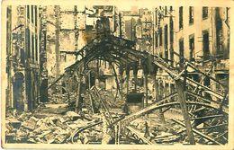 Cpa Photo SAINT MALO 35 Marché Aux Poissons Bombardé 1944, OUEST PHOTO St Malo - Saint Malo