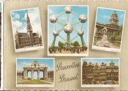 Belgium  & Circulated, Atomium, Bruxelas, Lisboa 1958 (6577) - Monuments