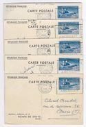 France Entiers Postaux Commémoratifs - 55c Bleu Mémorial Américain De La Pointe De Grave - Série De 5 Cartes - Entiers Postaux
