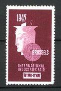 Vignette Publicitaire Brussels, International Industries Fair 1947, Messelogo - Erinnophilie