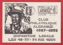 Carte /  Exposition Locale Du Club Philatélique / Algrange /  19-05-90 - Cartes-Maximum