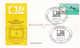 Germany Cover 1974 World Cup FIFA Football Germany - Dortmund Bulgaria-Netherlands 1:4 (DD9-31) - Coppa Del Mondo