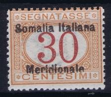 Somalia  Sa  Segnatasse 4 Mi 4 MH/* Flz/ Charniere - Somalie