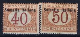 Somalia  Sa  Segnatasse 16 + 17  Mi 16 I + 17 I MH/* Flz/ Charniere - Somalie