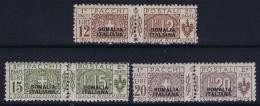 Somalia  Sa  Pacchi Postali  51 - 53  MH/* Flz/ Charniere  Part Set - Somalie