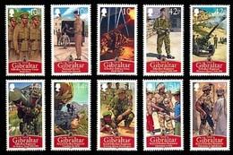 Gibraltar 2008 Yvertn° 1293-1302 *** MNH Cote 20 Euro Royal Régiment - Gibraltar