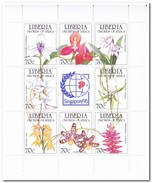 Liberië 1995, Postfris MNH, Flowers, Orchids - Liberia