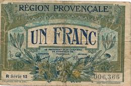 G503 - Billet 1 Franc - Chambre De Commerce - Région Provençale - Marseille - Avignon - Nîmes - - Chambre De Commerce