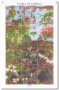 Liberia 1993, Postfris MNH, Flowers, Orchids, Flora - Liberia