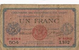 G503 - Billet 1 Franc - Chambre De Commerce De Lyon - 1916 - Chambre De Commerce