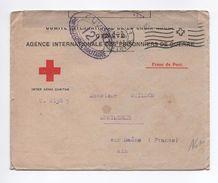 1917 - ENVELOPPE CROIX ROUGE / AGENCE DES PRISONNIERS DE GUERRE De GENEVE Pour MONTMERLE SUR SAONE (AIN) Avec CENSURE - Poststempel (Briefe)