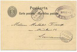 1710 - LANDESAUSSTELLUNG ZÜRICH 20.V.83 Auf Sauberer Ganzsachen-Postkarte - Poststempel