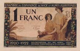 G503 - Billet 1 Franc - Chambre De Commerce De Nice Et Alpes-Maritimes - 1920 - Chambre De Commerce