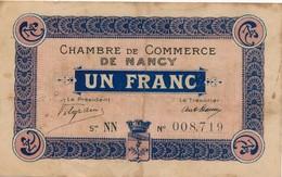 G503 - Billet 1 Franc - Chambre De Commerce De Nancy - 1915 - Chambre De Commerce