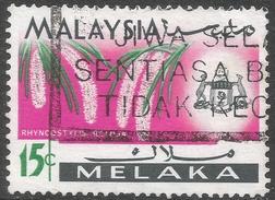 Malacca (Malaysia). 1965-68 Orchids. 15c Used SG 66 - Malaysia (1964-...)