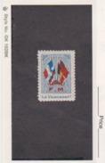 France WWI 4 Flags FM Ils Vaincront Stamps Vignette Poster Stamp - Commemorative Labels