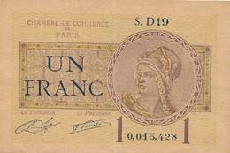 G503 - Billet 1 Franc - Chambre De Commerce De Paris - 1922 - Chambre De Commerce