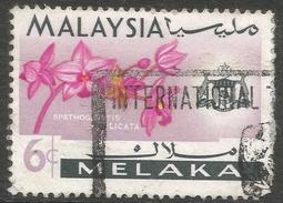 Malacca (Malaysia). 1965-68 Orchids. 6c Used SG 64 - Malaysia (1964-...)