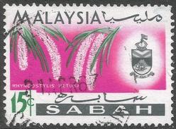 Sabah (Malaysia). 1965-68 Orchids. 15c Used. SG 429 - Malaysia (1964-...)