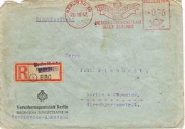 26389. Carta Certificada BERLIN (Alemania Ocupation) 1947. Sozial Versicherung - Zona Anglo-Américan