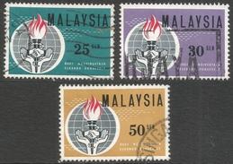 Malaysia. 1964 Eleanor Roosevelt Commemoration. Used Complete Set. SG 9-11 - Malaysia (1964-...)