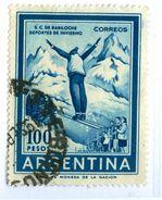 ARGENTINA, SPORT, SKI, 1961, FRANCOBOLLI USATI Scott 704 - Argentina
