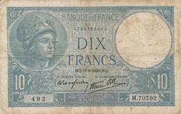 G503 - Billet 10 Francs - Minerve - 1939 - 1871-1952 Antichi Franchi Circolanti Nel XX Secolo