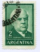 ARGENTINA, COMMEMORATIVO, DOMINGO SARMIENTO, FOTOGRAFIA, FOTOGRAVURE, 1962, FRANCOBOLLI USATI Y T 662  Scott 742 - Argentina