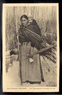 USA - ALASKA - Aux Glaces Polaires - Une Montagnaise Revenant Du Bois - Etats-Unis