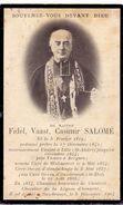 Doodsprentje Faire Part De Décès - Prètre Curé Fidel Salomé - Walincourt - Lille - Hondschoote Hazebrouck - 1819 - 1904 - Overlijden