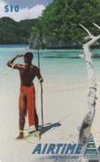 Palau -  Native Palauan At Beach - Palau