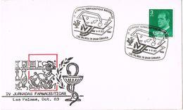 26393. Carta LAS PALMAS (Canarias) 1983. Jornadas Farmaceuticas. FARMACIA - 1931-Aujourd'hui: II. République - ....Juan Carlos I