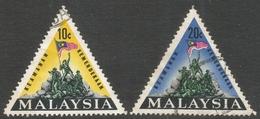 Malaysia. 1966 National Monument, Kuala Lumpur. Used Complete Set. SG 31-32 - Malaysia (1964-...)
