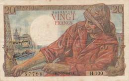 G503 - Billet 20 Francs - Pêcheur - 1943 - 1871-1952 Circulated During XXth