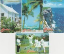 Cayman Islands : Lot De 4 Cartes CAY163 B/C/D&224 C   . - Iles Cayman