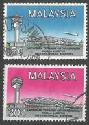 Malaysia. 1965 Opening Of International Airport, Kuala Lumpur. Used Complete Set. SG 18-19 - Malaysia (1964-...)