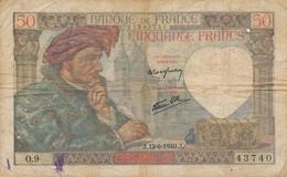 G503 - Billet 50 Francs - Jacques Coeur - 1940 - 1871-1952 Antichi Franchi Circolanti Nel XX Secolo