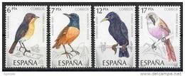 SERIE 4 TIMBRES ESPAGNE NOUVEAUX 1985 OISEAUX - Pájaros