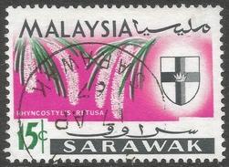 Sarawak. 1965 Orchids. 15c Used. SG 217 - Malaysia (1964-...)