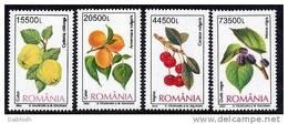 ROMANIA 2002 Fruits  MNH / **.  Michel 5694-97 - 1948-.... Republics