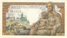 G503 - Billet 1000 Francs - Déesse Déméter - 1943 - 1871-1952 Circulated During XXth