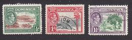 Dominica, Scott #97-99, Used, Scenes Of Dominica, Issued 1938 - Dominique (...-1978)